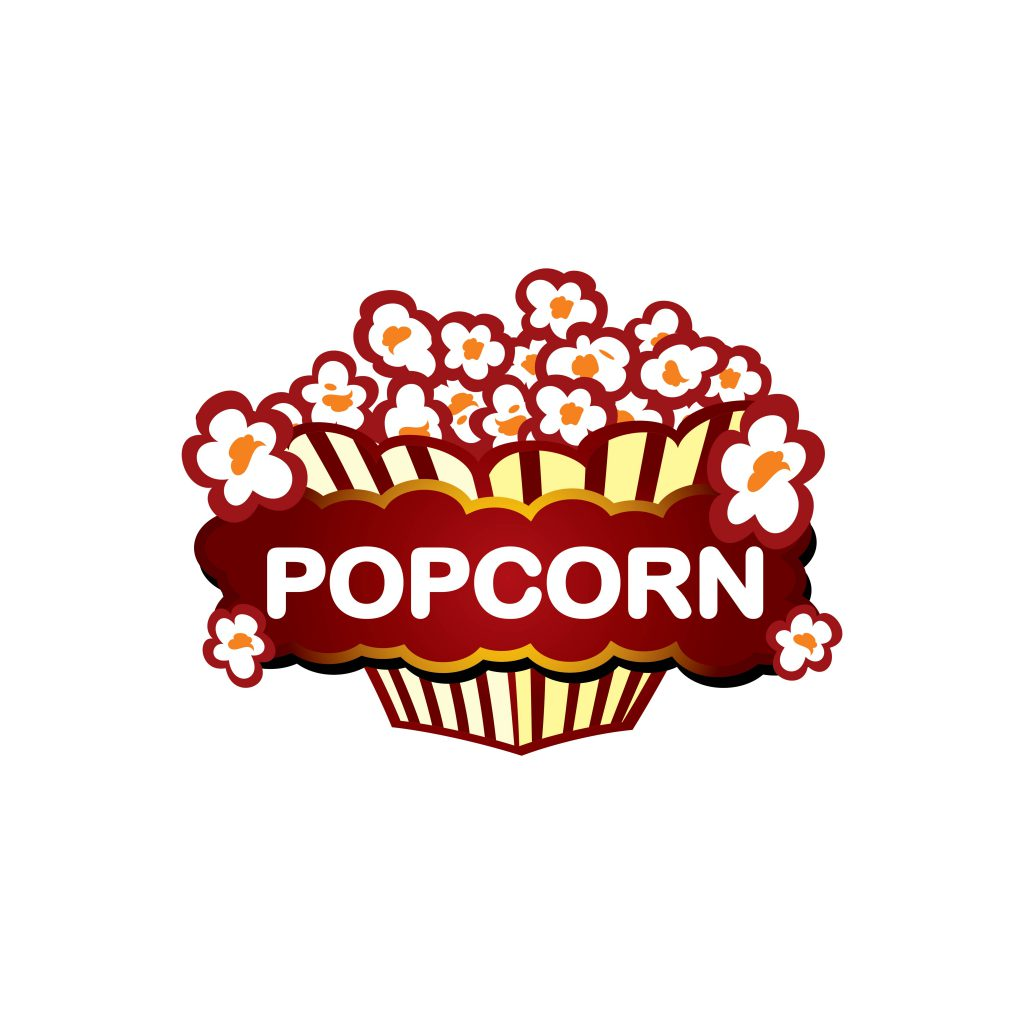 Popcorn Packaging Template Logo