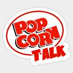 Popcorn Talk Logo Sticker