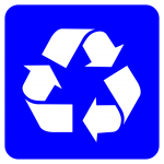 Recycling Symbol White Blue Svg Wikimedia