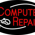 Red Computer Repair Logo Neon Sign Signs Every