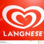 Red White Langnese Logo Editorial Photography