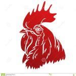 Rooster Logo Mascot Isolated Head Vector