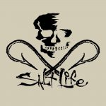 Salt Life Skull Hooks Black Decal Island
