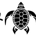 Salt Life Turtle Signature Decal Medium Black Rated Vinyl