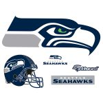 Seattle Seahawks Logo Giant Officially Licensed Nfl Removable Wall