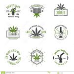 Set Medical Marijuana Logos Cannabis Badges