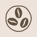 Simple Coffee Bean Icon Logo John Hollis