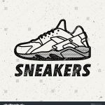 Sneakers Logo Shoes Sign Vector