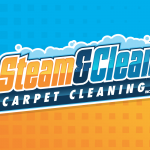 Steam Clean Carpet Cleaning Logo Design