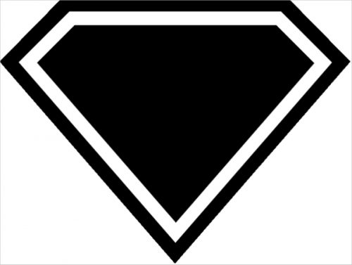 Superman Symbol Template Pin Pinterest