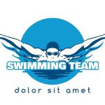 Swimming Team Vector Logo Graphics Creative
