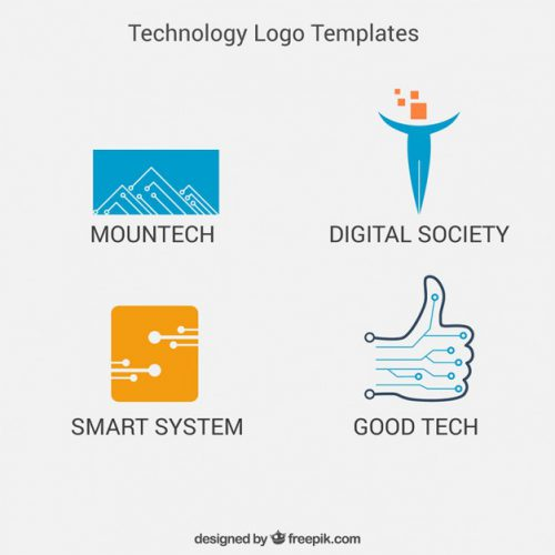 Technology Logo Templates Pack Vector