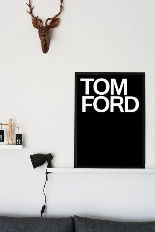 Tom Ford Logo Black White Print Affiche