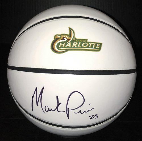 Unc Charlotte Ers Mark Price Signed Autographed Logo Basketball Coa