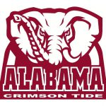 University Alabama Crimson Tide Huge Elephant Car Window Decal Sticker