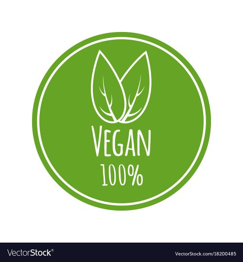 Vegan Logo Round Eco Green