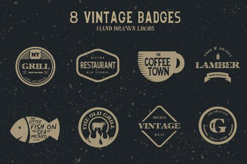 Vintage Hand Drawn Logos Logo Templates Creative