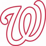 Washington Nationals Cap Logo Decal Sticker Stk Mlb Wan Cad