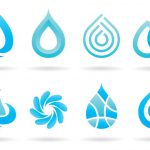 Water Logos Vector Art