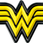 Wonder Woman Logo Yellow Chrome Premium Fan Emblem