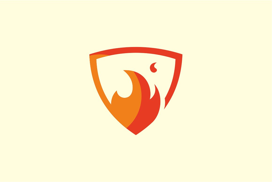 Flame Shield Logo Templates Creative